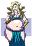Commission - Bulging Blood Elf by Axel-Rosered
