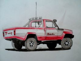 jeep Honcho pickup drawing by prestonthecarartist