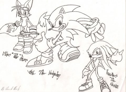 The Sonic Trio by aaronmoss18