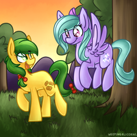 Apple Fritter and Cloudchaser by LittlePinkAlpaca
