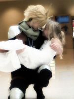 Cloud and Aerith by RikkuStrife0722