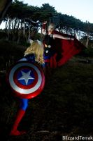 PS14 - Thor vs. Captain America by BlizzardTerrak