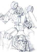 G1 Mirage pencils by M3Gr1ml0ck