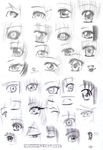 More manga eyes by MangaAnimeLover