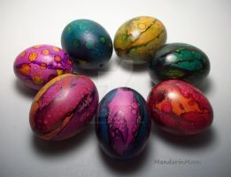Painted Eggs by MandarinMoon
