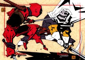 Deadpool VS Taskmaster by soliton