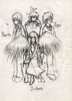 angel and some guys by half-duck-half-girl