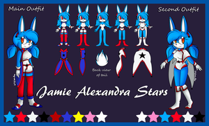 Jamie Stars Reference Sheet by PuffyCookieBoo
