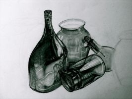 Some Glass Bottles by luc722