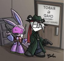 Rabot and Chad - P.I. by evilchibiminion