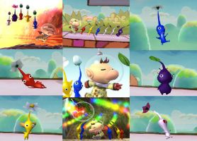 Olimar and Pikmin Collage by ShadowAvengerhero