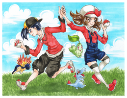 Pokemon HGSS: Let's Go by Kita-Angel