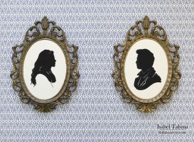 Twilight Edward and Bella Paper Silhouettes by fit51391