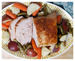 Pork Roast and Vegetables II by cb-smizzle