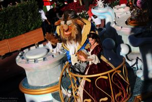 Disney Parks Christmas Day Parade - Belle and Beas by Figmentsmedia