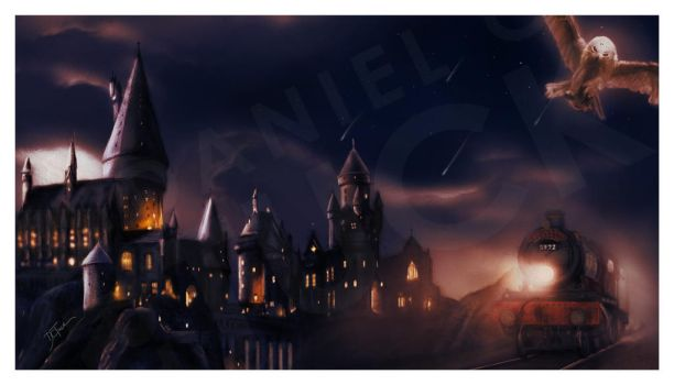 Harry Potter Commission Background by dctuck