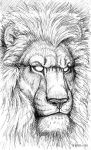 Pen Sketchbook - Car Lion by synnabar