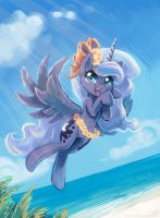 Luna at the beach by KP-ShadowSquirrel