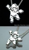 Mega Man Pendant by Sketchy-Stories