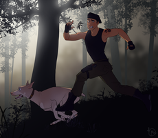 SF Fight Skill 1: Running Away from your Problems by WesternSpice