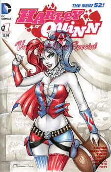 Harley Quinn Sketch Cover by ColletteTurner