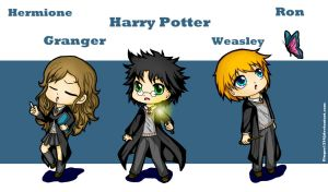 Harry Potter Chibis by Ginger1334