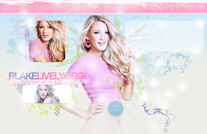 Blake Lively Fansite Layout by crucioimpedimenta