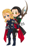 Thor and Loki - Don't cry my brot by kawaiirei