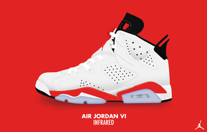 Air Jordan VI 'Infrared' by DCrossover11