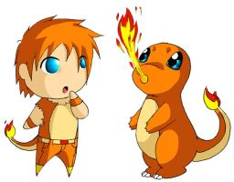 Pokekids -- Charmander by Digital-Twilight