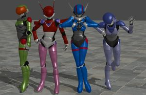 Bubblegum Crisis pack 2.0 XPS ONLY!!! by lezisell