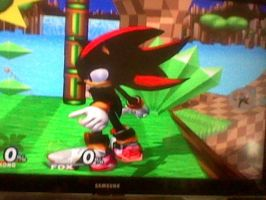 Shadow in Brawl pt 2 Assist Trophy pose by SuperShadiw1010