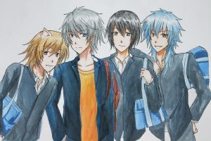 Nitro+Chiral Boys by BlackTwin-Shiro