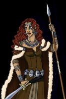 Queen Boudica -colored by Rapsody