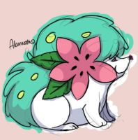 Shiny Shaymin by skeletall