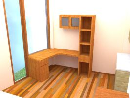 Compact Study Room by alibolong