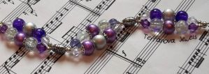 Purple and silver two strand bracelet by TerraNovaJewels