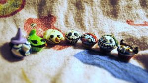 The Nightmare Before Christmas Cupcake Charms by QueenNekoyasha