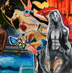 Collage Painting by MindlessWolf