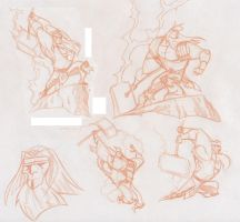Thor sketches by dfridolfs