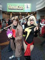 Megacon 2014: Gambit And Ms.Marvel cosplay by Oblivion-Evil