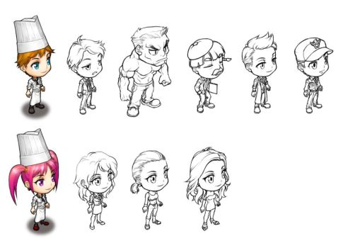 NPC sketches by windship
