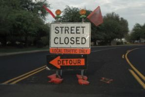 Street Closed (Detour) by CliffEngland