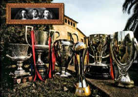 FC Barcelona 6 Cups by Lord-Iluvatar