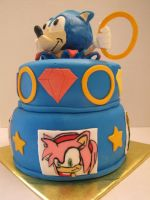 sonic the hedgehog cake by MotherDaughterSweets
