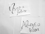 Never a Failure, Always a Lesson by Brebenel-Silviu