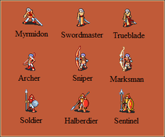 Generic Fire Emblem Sprites 1 by Great-Aether