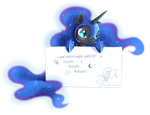 Nightmare Moon message by ZymonasYH