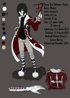 Kyo Nagae AS Ref Sheet by AnnieFliesAway