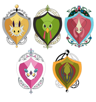 PKMNA - Armonia House Emblems by TamarinFrog